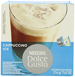Nescafe Dolce Gusto for Nescafe Dolce Gusto Brewers, Cappuccino Ice, 16 Count (Pack of 3)