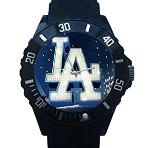 Los Angeles Dodgers Design Plastic Wrist Watch for a Special Gift