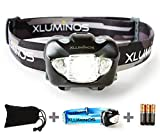 Xluminos LED ヘッドライト スポットライト 168ルーメン 実用点灯30時間 6つの点灯モード 防水性能IPX6 軽量・コンパクトでキャンプ/サイクリング/ハイキング/夜釣り/登山などのアウトドア活動に最適 今なら、ヘッドバンド2本...