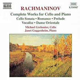Rachmaninov: Works For Cello And Piano (Complete)