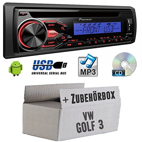 VW-Golf-3-III-Pioneer-DEH1800UBB-CDMP3USB-Autoradio-Einbauset