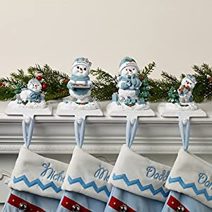 Personalized Snow Buddies Stocking Holder - Christmas Stockings