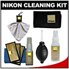 Nikon Cleaning Combo Kit: Nikon 3-Piece Lens Cleaning Kit + Anti-fog Cloth + Spudz + Spray Bottle + Blower for D4S, D800, D610, D7100, D7000, D5300, D5200, D3300, D3200 Digital SLR Cameras & Lenses