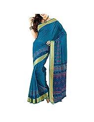 Saree dotcom Art Silk Saree (Light Blue) - B00M3T1QZE