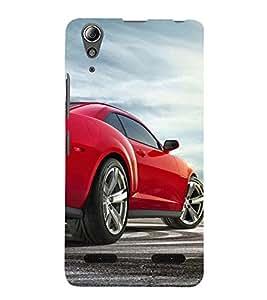 Race Car 3D Hard Polycarbonate Designer Back Case Cover for Lenovo A6000 Plus
