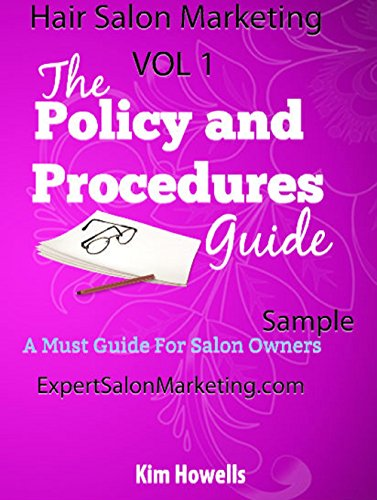 Salon marketing policy and procedures manual mark 2015 for A step ahead salon
