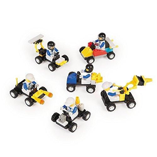 12-Mini-BUILDING-Block-Vehicle-SetsRACE-CarJEEPConstruction-etc-Birthday-Party-FAVORS-STOCKING-STUFFERSMotor-Skills