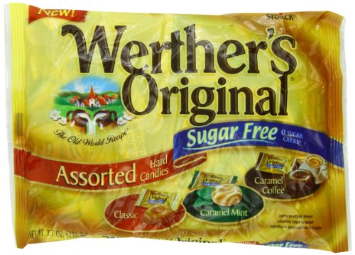 Werther's Sugar Free Assorted, Original, 7.7 Ounce
