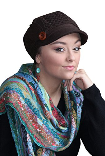 Picadilly Peak Newsboy Cap Tweed Hat Chemo Headwear for Cancer Patients (BROWN) (Cancer Head Caps compare prices)