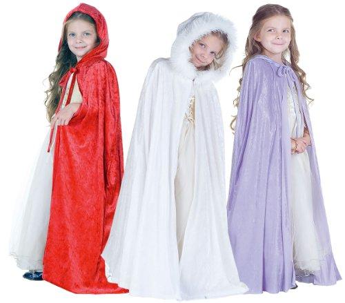 [Underwraps Panne Kids Cape, White] (Fairy Dress For Kids)