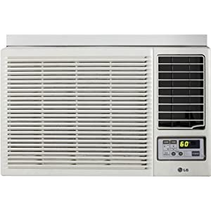 LG 7,000 BTU Window-Mounted Air Conditioner with Supplemental Heat and Remote Control (115 volts) - LW7012HR