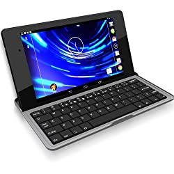 Bluetooth Keyboard Stand Case for Google Nexus 7 or 7 FHD (Rubberized Non-Slip Grip)