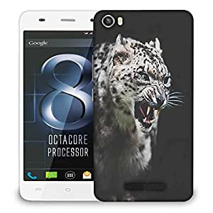 Snoogg Leopard fury Designer Protective Back Case Cover For LAVA IRIS X8