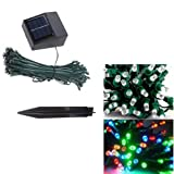 33ft 60 LED Solar String Fairy Lights Multi Color Outdoor Garden Xmas