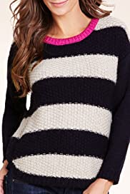 Indigo Collection Striped Jumper with Mohair [T66-2596-S]