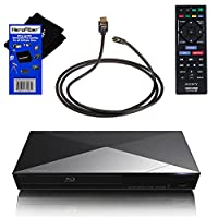 Sony BDPS5200 Wi-Fi and 3D Blu-ray Disc Player with Remote Control + Xtech High-Speed HDMI Cable with Ethernet + HeroFiber® Ultra Gentle Cleaning Cloth from Sony