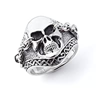 Scott Kay Men's Silver UnKaged Skull Ring with Chained Eyes