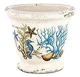 Michel Design Works Decorative Ceramic Planter, Seashore