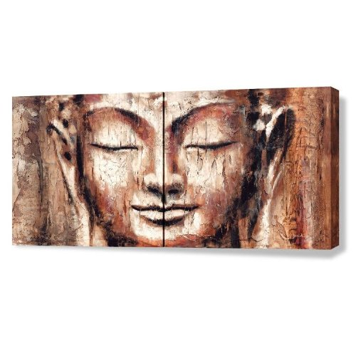 Giclee of Buddha Painting FAITH 64x32inch (2 panels)