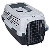Petmate Ultra Vari Kennel 23-Inch, For Pets 0-15 Pounds, Bleached Linen/Brown