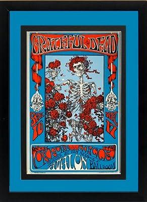 Grateful Dead 1966 Skeleton Framed Concert Poster 12x16 Inches B