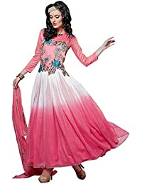 Latest Aryan Fashion Designer Heavy Pink Partywear Gown