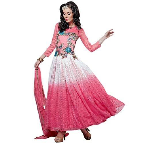 Latest Aryan Fashion Designer Heavy Pink Partywear Gown