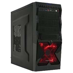 Cooltek X2 - Midi Tower - ATX - ohne Netzteil ( ATX ) - mattschwarz - USB/Audio