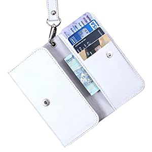 Dooda Genuine Leather Wallet Pouch Case For HTC Sensation XL (WHITE)