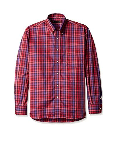 Kenneth Gordon Men's Multi Check Button Down Sportshirt
