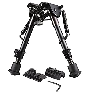 [New Version] AVAWO Hunting Tactical Rifle Bipod with Picatinny and Swivel Stud Mounts