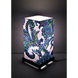 9 GIFTS Ethnic Blue Flowers Table Lamp