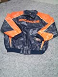 New Nfl Denver Broncos Faux Leather Jacket Size 4XL at Amazon.com