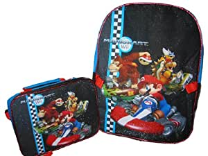 "Mario Brothers 16"" Backpack with Detachable Lunch Kit"