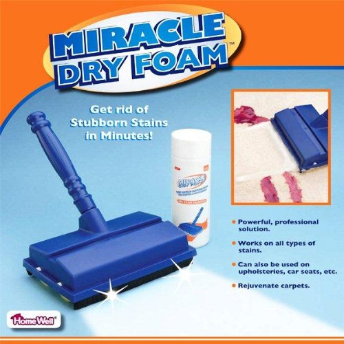 MIRACLE DRY FOAM - AS SEEN ON TV (AMAZING CLEANING POWER FOR CARPETS AND UPHOLSTERY!)