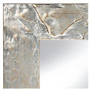 spiegel capri antik silber 50x70 cm komplett mit echtglas spiegel k che haushalt. Black Bedroom Furniture Sets. Home Design Ideas