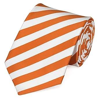 Cravate orange blanche Fabio Farini