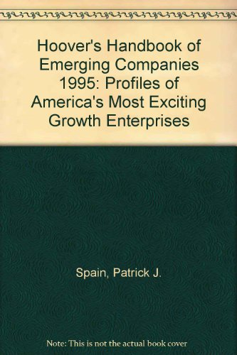 Hoover'S Handbook Of Emerging Companies 1995: Profiles Of America'S Most Exciting Growth Enterprises front-561103