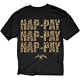 Camoflauge Hap-Pay - Duck Dynasty T-shirt: Adult 3XL - Black