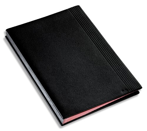 Läufer 34836 - Ambiente LA LINEA Unterschriftenmappe 24 x 33,5 cm, aus echtem Leder, schwarz