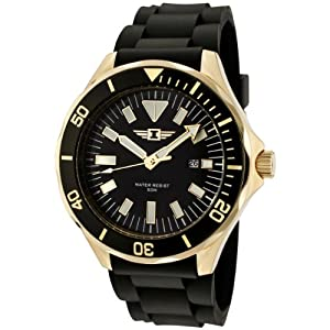 I By Invicta Men's 90244-002 Black Dial Black Rubber Watch