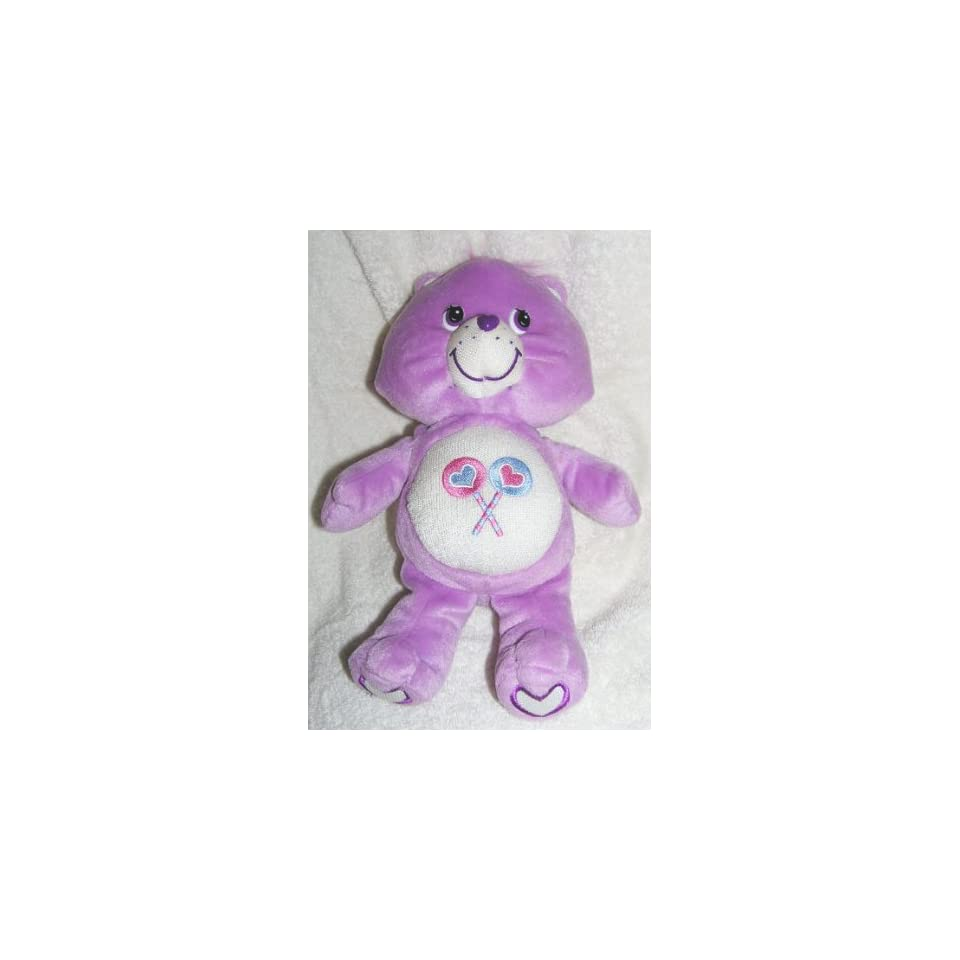 2004 Care Bears 10 Plush Glow A Lot Share Bear Doll