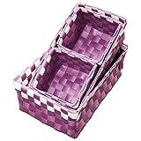 Ore International FP2322/4 Polypropylene Tray, 3.25-Inch, Purple, Set of 4