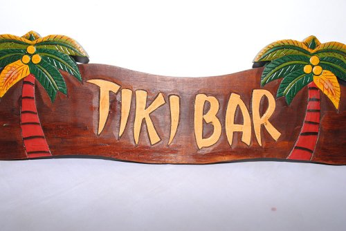 PEMA Tiki Bar Schild mit Palmen