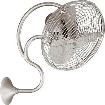 casa bruno oscillating wall mount fan melody satin nickel