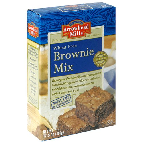 Wheat Free Brownie Mix Gluten-Free Arrowhead Mills 17.5-Ounce Unit