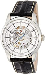 Hamilton Men's 'Timeless Classic' Swiss Automatic Stainless Steel and Black Leather Casual Watch (Model: H40655751)