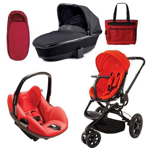 Quinny Moodd Prezi Complete Collection In Red Envy Black front-950451