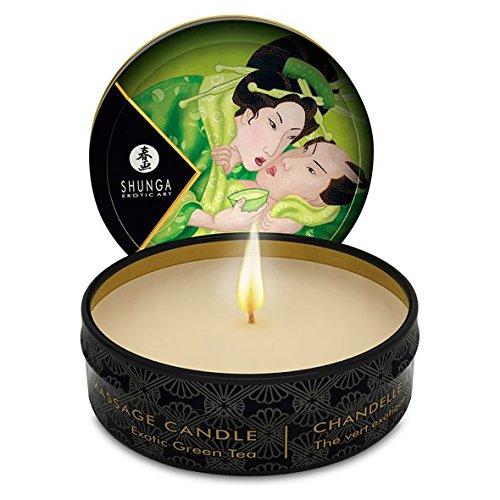 Shunga-soins-du-corps-Massage-Candle-huiles-naturelles-Th-Vert-30-ml