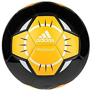 adidas Performance Starlancer IV Soccer Ball, Black/White/Solar Gold-Orange, 3